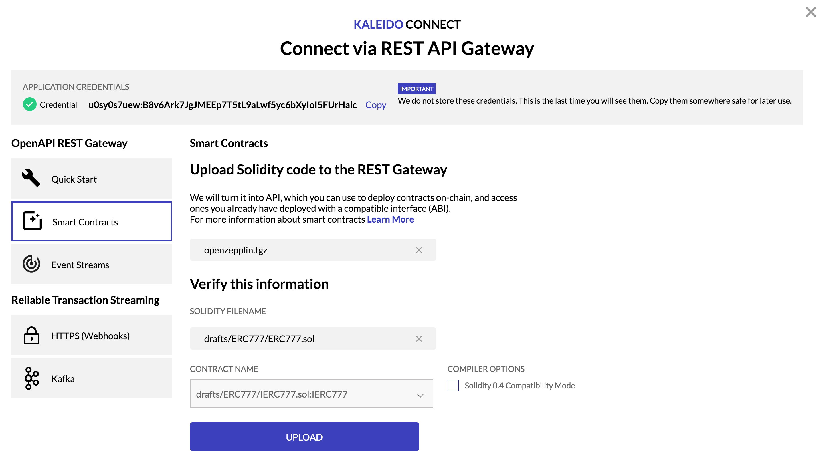 ERC777 Deployed via REST API Gateway